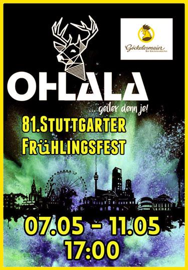 Partyband OHLALA im Göckelesmaiser Festzelt