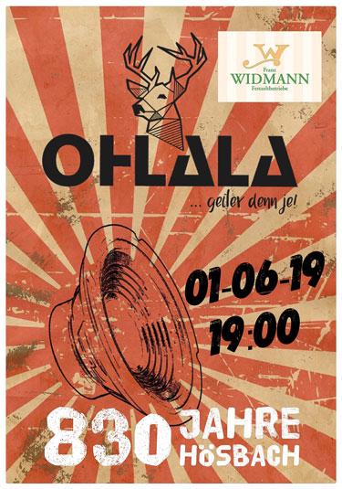 830 Jahre Hösbach - Partyband OHLALA im Festzelt Franz Widmann