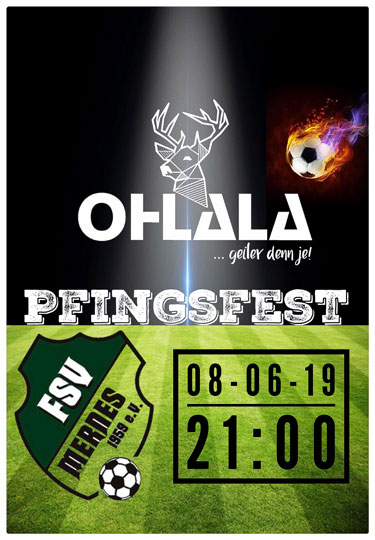 Pfingstfest FSV Mernes mit der Partyband OHLALA