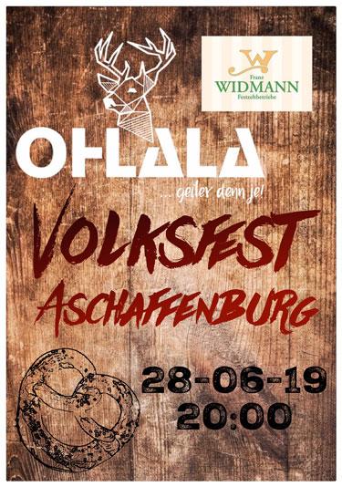 Volksfest Aschaffenburg - Partyband OHLALA im Festzelt Franz Widmann