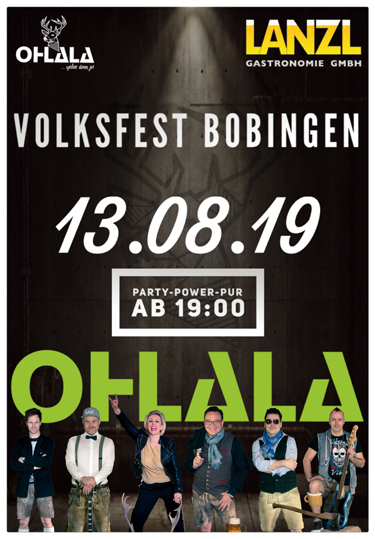 Volksfest Bobingen- Party Power pur mit Partyband OHLALA